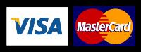 We Accept Visa and Mastercard.